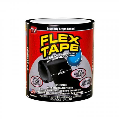 Изолирующая лента «Супер Фикс» черная, 20х150 см, 1 шт + 10х150 см, 1 шт - фото №1