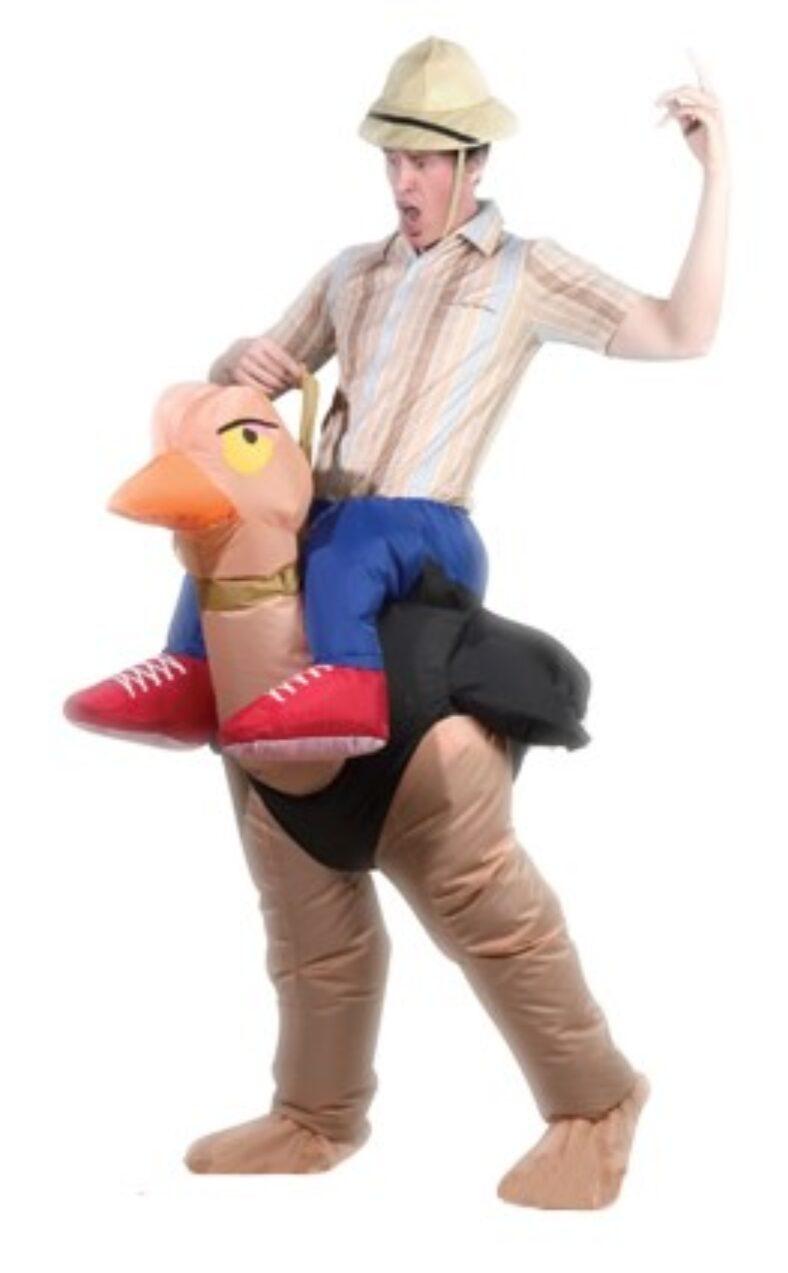 фото Костюм надувной Просто-Полезно «Наездник на страусе»