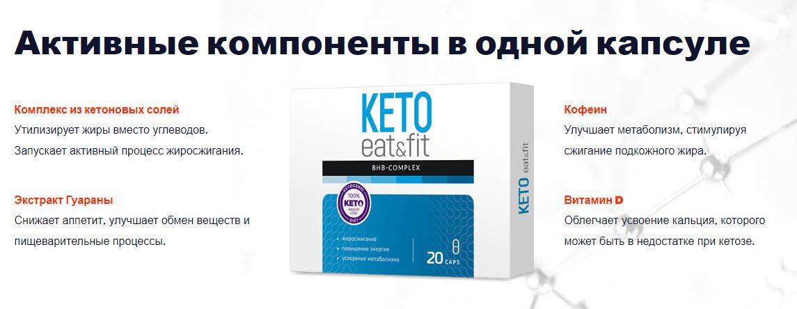 Активные компоненты Keto Eat&Fit
