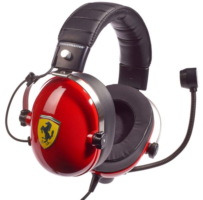 фото Гарнитура игровая Thrustmaster T.RACING Scuderia Ferrari Edition для Xbox One/PS 4/Nintendo Switch/3DS и ПК