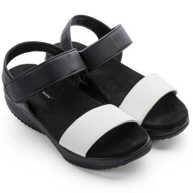 Сандалии дышащие женские Walkmaxx 3.0. Цвет: черный, белый