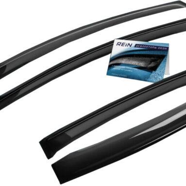 Дефлекторы окон накладные REIN Chevrolet Aveo II, 2012, седан