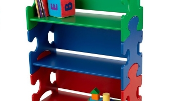Стеллаж детский KidKraft Puzzle Book Shelf Primary