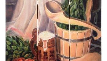 Картина для бани Банные штучки «С легким паром»