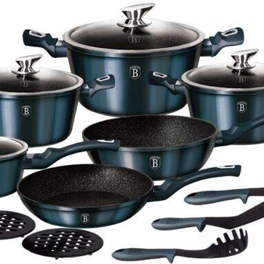 Набор посуды Berlinger Haus Aquamarine Metallic. Количество предметов: 15