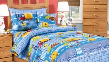 Ясельный комплект постельного белья Бамбино «Машинки»