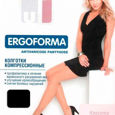 Колготки медицинские эластичные компрессионные Ergoforma EU 112. Цвет: черный