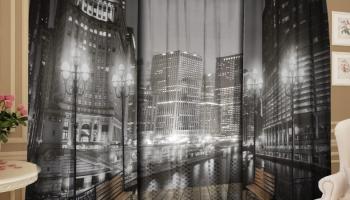 Фотокомплект: тюль и шторы ТамиТекс «Ночной дозор»