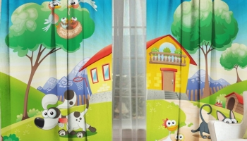 Фотошторы детские ТамиТекс «Городок»