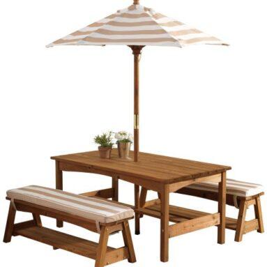 Набор: стол и скамейки с зонтом KidKraft 00500_KE