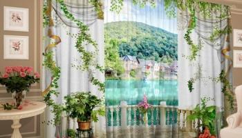 Фотокомплект: тюль и шторы ТамиТекс «Знакомые окрестности»