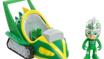 Игровой набор с фигуркой PJ Masks «Геккомобиль. Лунное суперприключение»