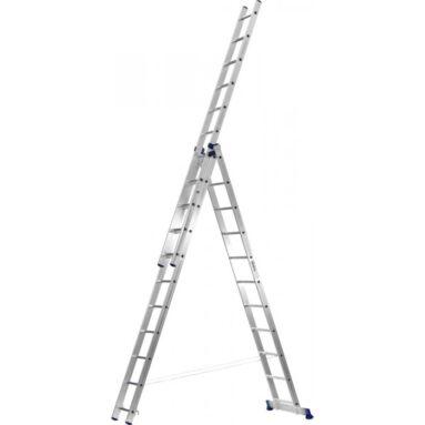 Лестница трехсекционная со стабилизатором Сибин 38833