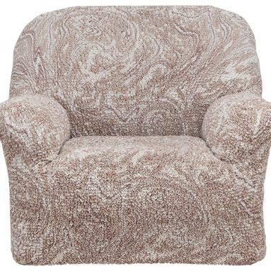 Натяжной чехол на кресло Еврочехол «Виста. Буше»