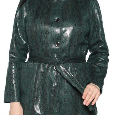 Жакет Laura Amatti «Нежный питон». Цвет: зеленый