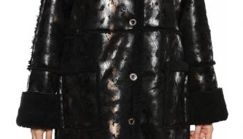 Дубленка Laura Amatti «Королевский питон». Цвет: черный